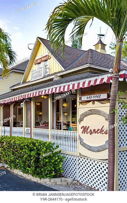 Captain William D. (Bill) Colliers home (b 1882) - now Mareks restaurant, Marco Island, Naples, Florida, USA