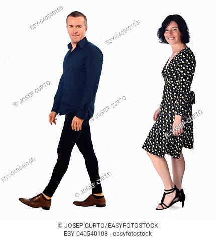 couple isolated on white background