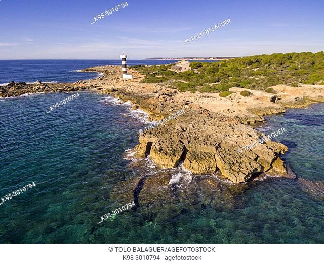 Punta Plana, S'Estelella, Llucmajor, Majorca, Balearic Islands, Spain