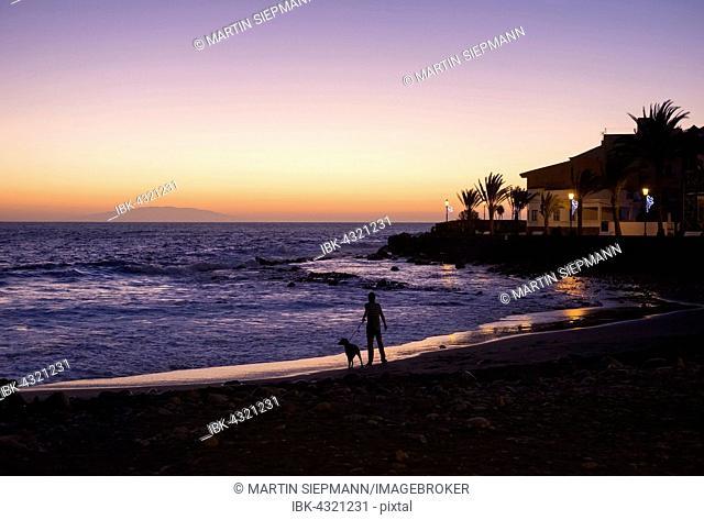 Evening mood, La Playa, Valle Gran Rey, La Gomera, Canary Islands, Spain