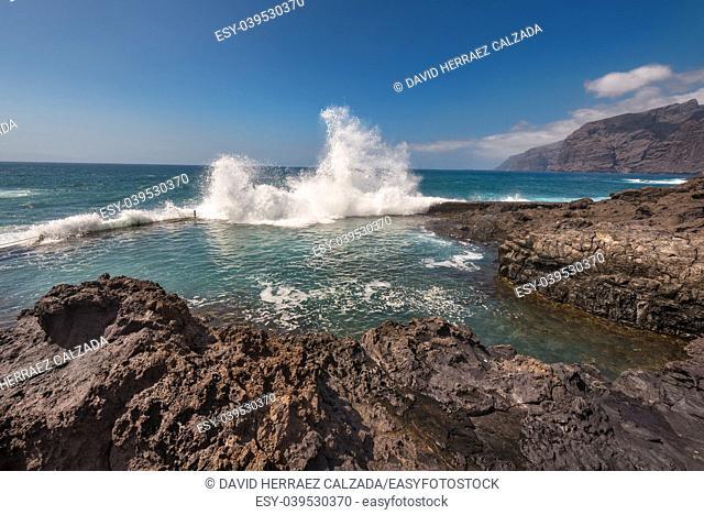 Coastline landscape in Puerto Santiago, Tenerife, Spain