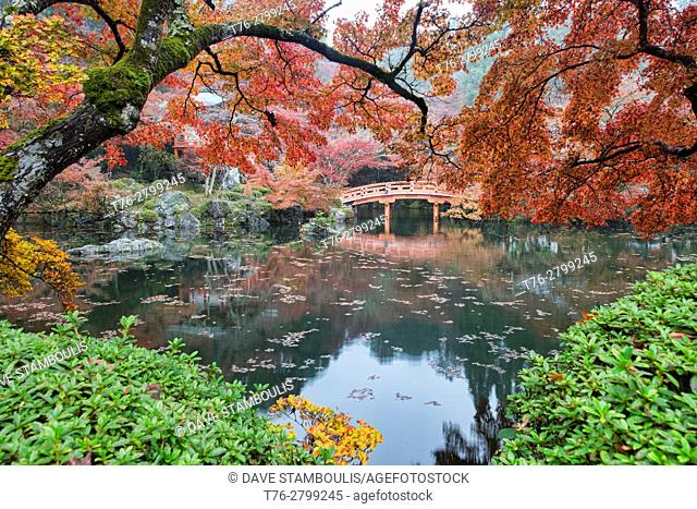 Classic autumn view at Daigo-ji Temple, Kyoto, Japan