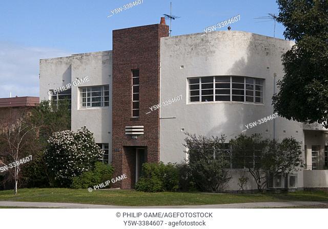 Streamline Moderne or Ocean Liner style home in suburban Melbourne, Victoria, Australia