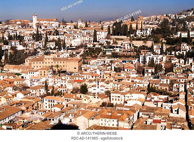 View from the Alhambra on Granada Andalusia Spain