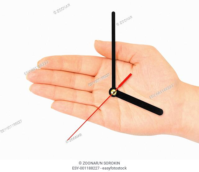 Hand with clock-hands