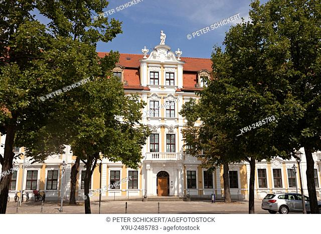 baroque facade of the Landtag, seat of the government of Saxony-Anhalt, Magdeburg, Saxony- Anhalt, Germany