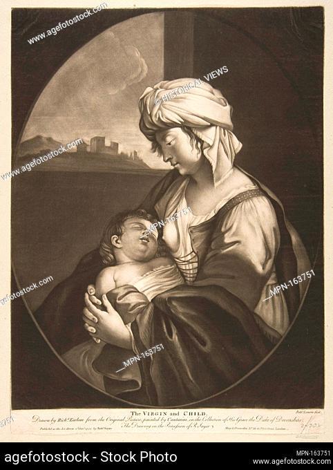 Virgin and Child. Artist: Robert Laurie (British, London 1755-1836 Broxbourne, Hertfordshire); Artist: After Simone Cantarini (Italian