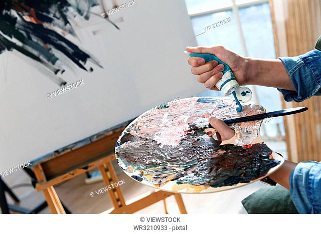 Artists in the paintings