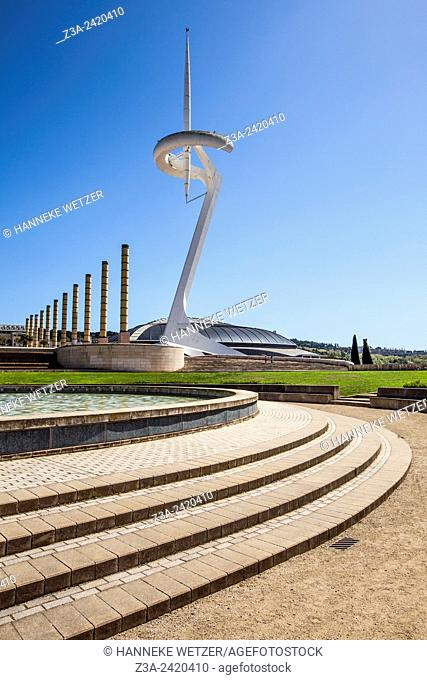 The Olympic park in Barcelona, Spain