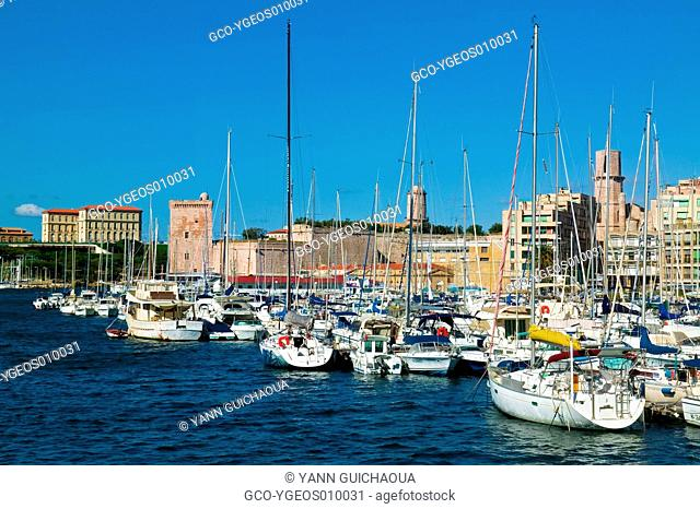 OLD HARBOUR, MARSEILLE, PROVENCE, FRANCE