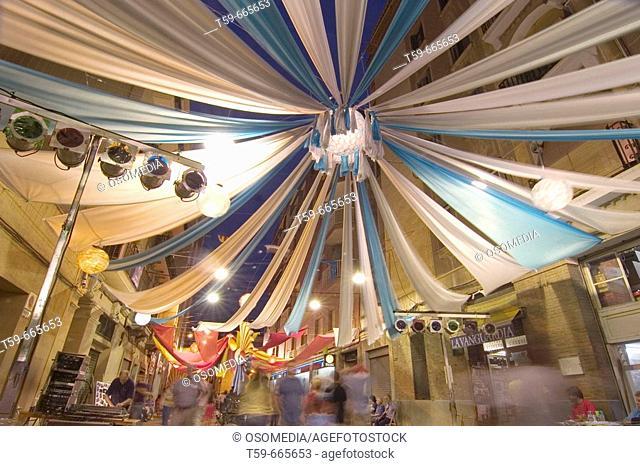 Local festivity. Gracia District. Barcelona. Spain