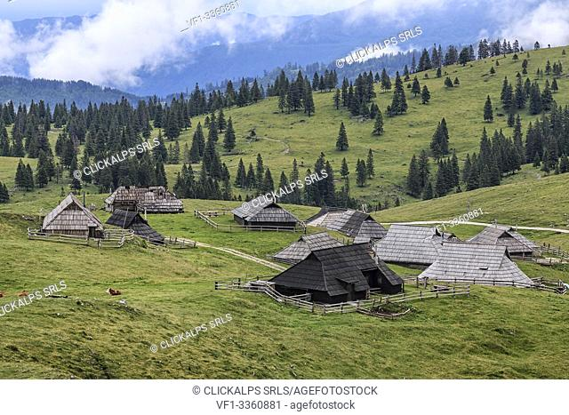 The Velika Planina plateau, Slovenia, Europe