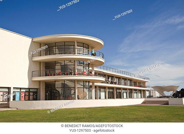 De La Warr Pavilion designed by Erich Mendelsohn and Serge Chermayeff, Bexhill-on-Sea, East Sussex, England, UK