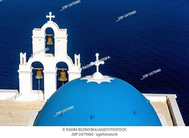 St Spirou Firostefani, Santorini, Cyclades, Greek Islands, Greece