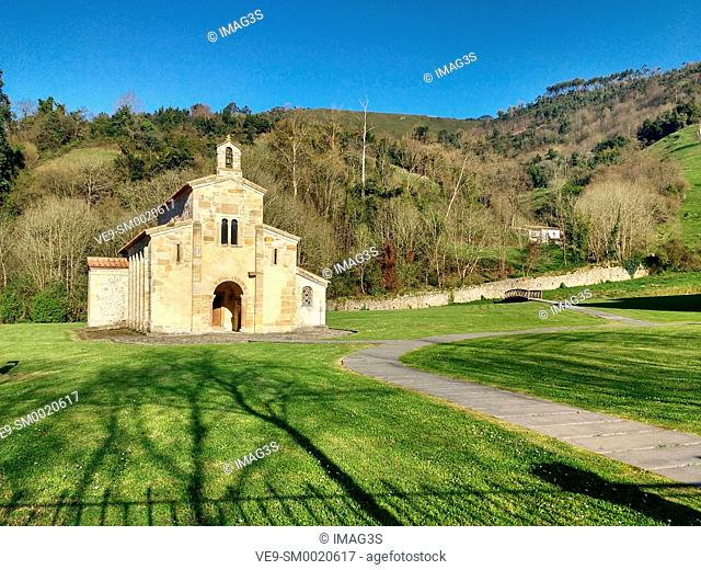 Pre-Romanesque church of San Salvador de Valdedios, Villaviciosa, Way of St James, Asturias, Spain