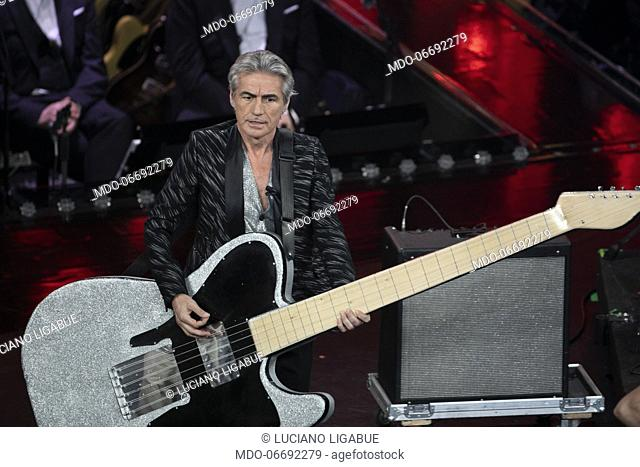 Italian singer and musician Luciano Ligabue during the fourth evening of the 69th Sanremo Music Festival. Sanremo (Italy), February 8th, 2019