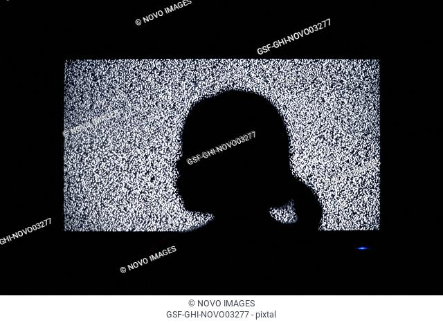Profile of Woman's Head in Shadow