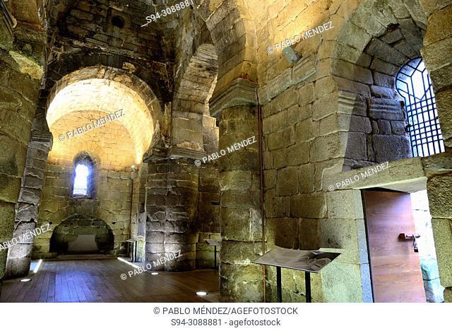 Interior of Visigothic church of Santa Maria de Melque, Toledo, Spain