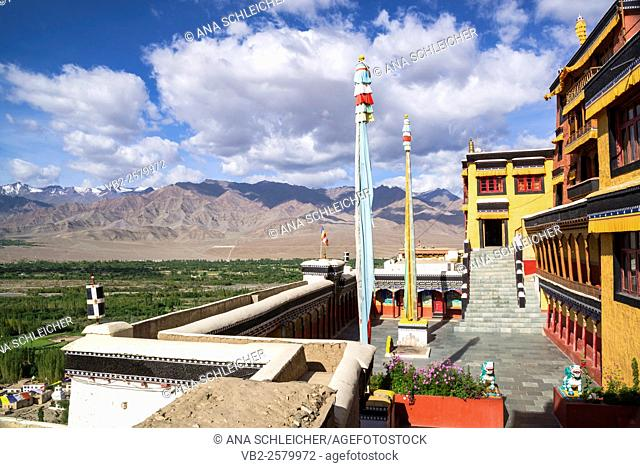 Terrace in Thicksay gompa, Ladakh, India