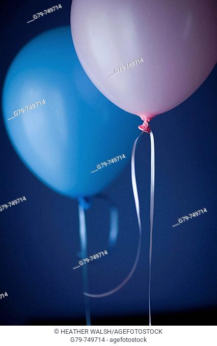 Pink and blue balloon