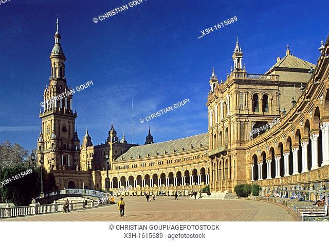 Plaza de España, Seville, Andalusia, Spain, Europe