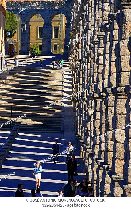 Segovia, Roman Aqueduct, Castilla-Leon, Spain