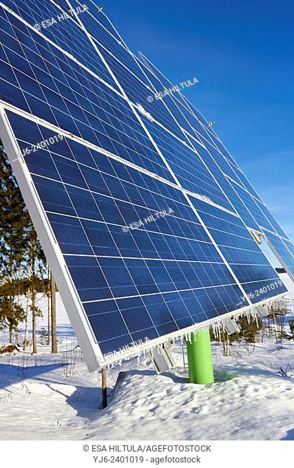 solar panels for electricity production, Lappeenranta Finland