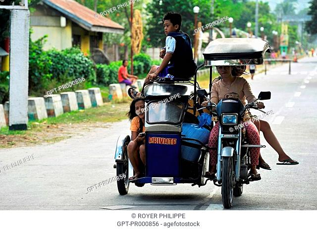 MOTORIZED TRICYCLE, FAMILY TRANSPORT IN THE PHILIPPINES, SOUTHEAST ASIA