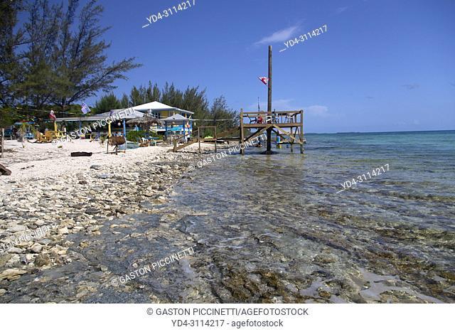 Restaurant on the beach near to Gregory Town, Eleuthera island, Bahamas