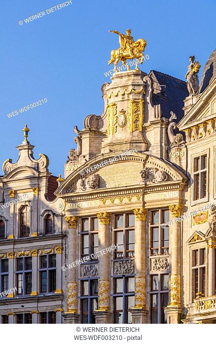 Belgium, Brussels, Guildhall, in the middle Maison de L'Arbre d'Or