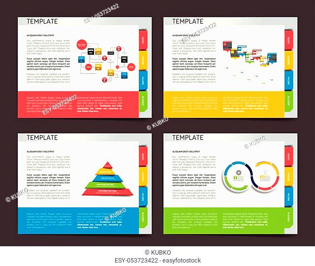 Slide template. Vector presentation