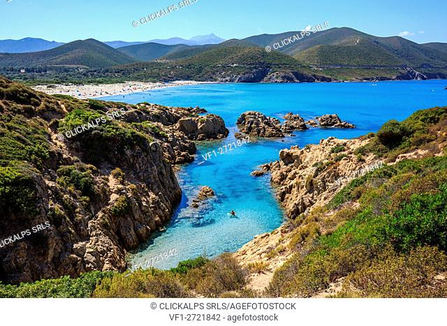 France, Corse, cove from the Ostriconi beach, Balagne