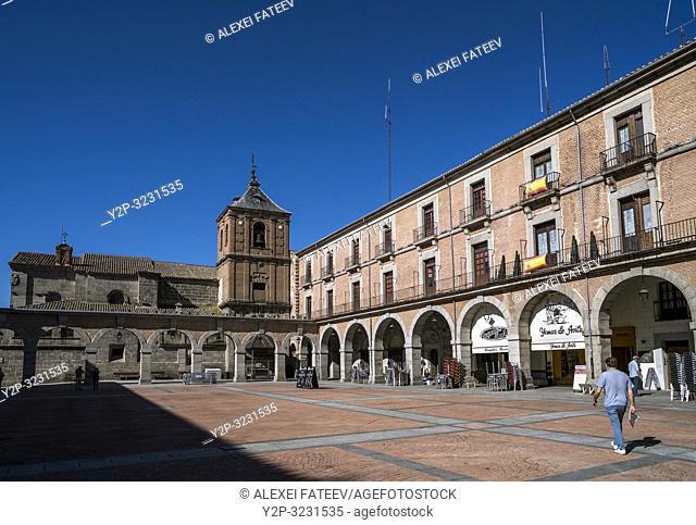 Plaza Mercado Chico in Ã. vila, Castile and León, Spain