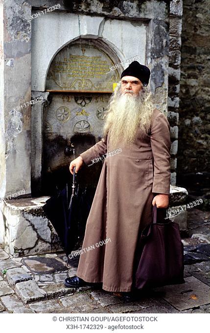 monk of the Bachkovo Monastery, Rhodope Mountains, Bulgaria, Europe