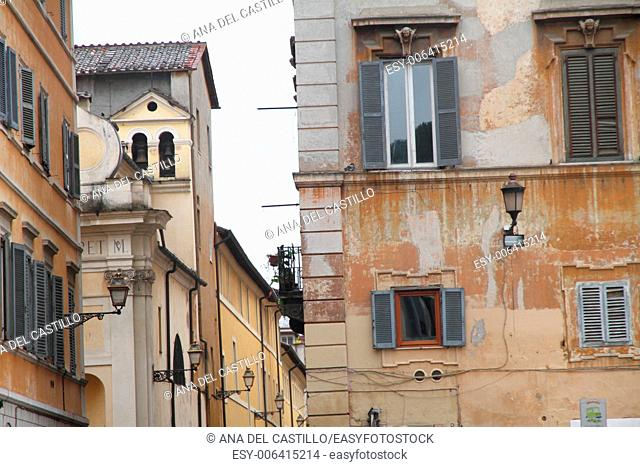Trastevere is a typical district of Rome, Italy