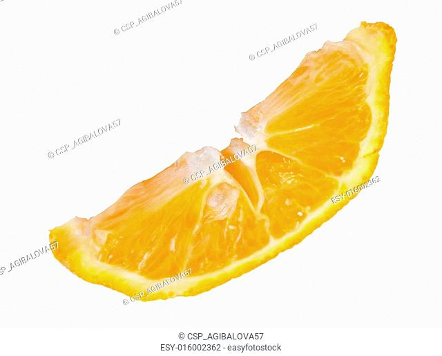 ripe orange slice