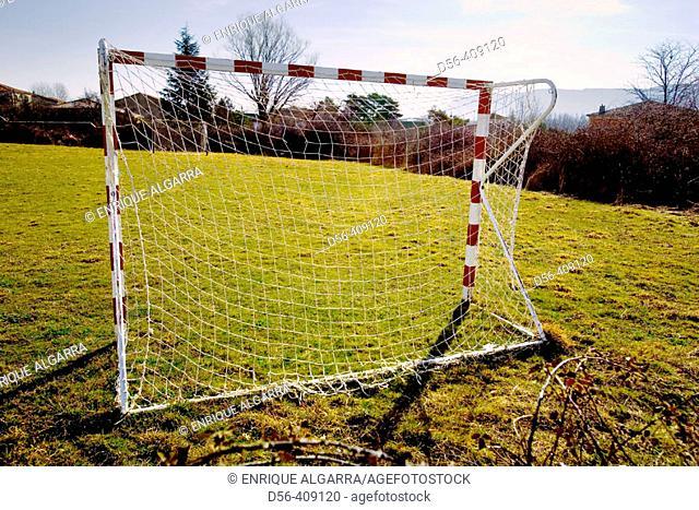 Soccer field. Cidones, Soria province. Spain