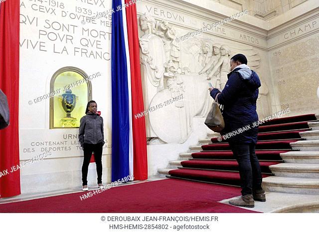 France, Indre et Loire, Tours, Memorial in Tours town hall