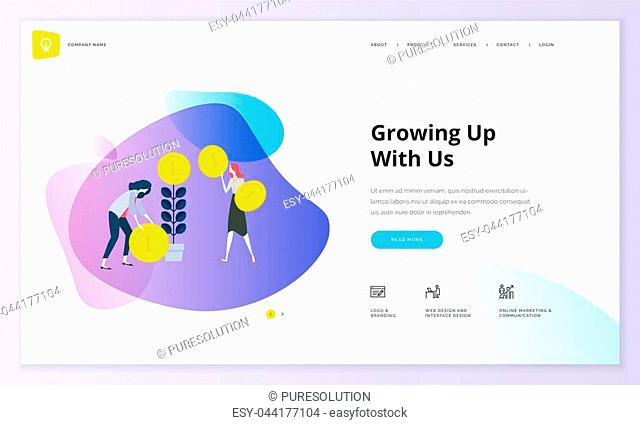 Modern vector illustration concept of web page design for website and mobile website development. Easy to edit and customize
