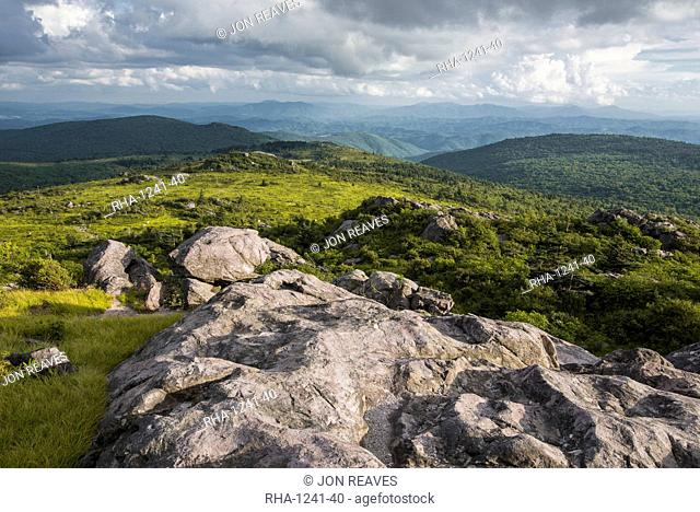 View of Appalachian Mountains from Grayson Highlands, Virginia, United States of America, North America