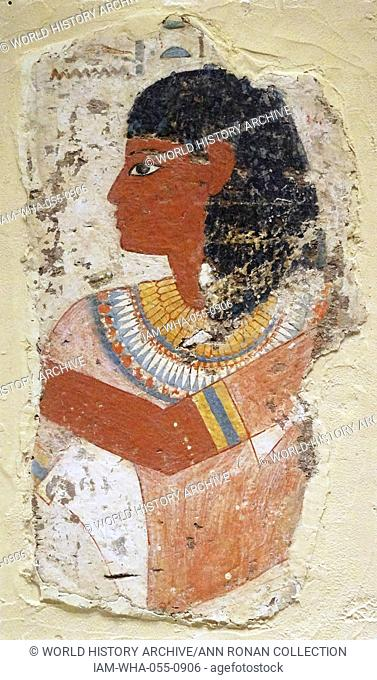 Tomb painting depicting the king's chief sculptor, Nebamun, bringing an offering to the gods. From the 14th century