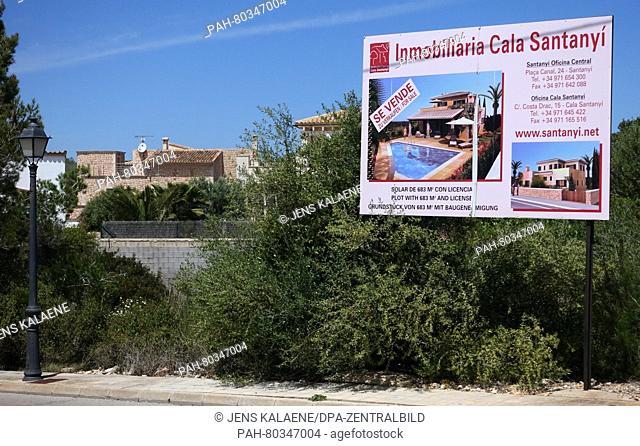 View of Santanyi on the island of Mallorca, Spain, 5 May 2016. PHOTO: JENS KALAENE/dpa | usage worldwide. - Santanyi/Mallorca/Spain