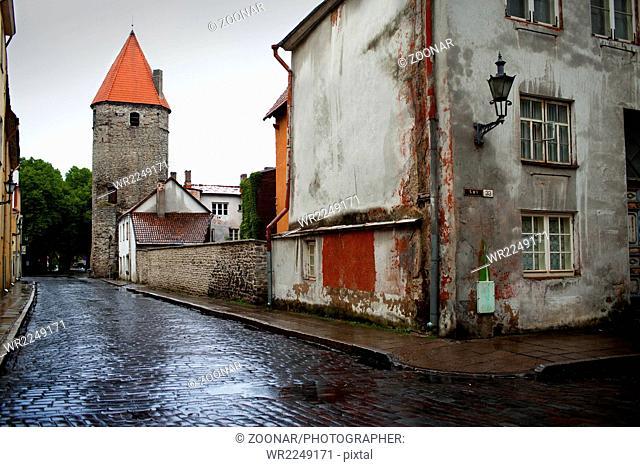 city wall. Old city. Tallinn, Estonia
