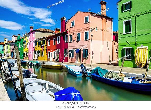 Burano village near Venise
