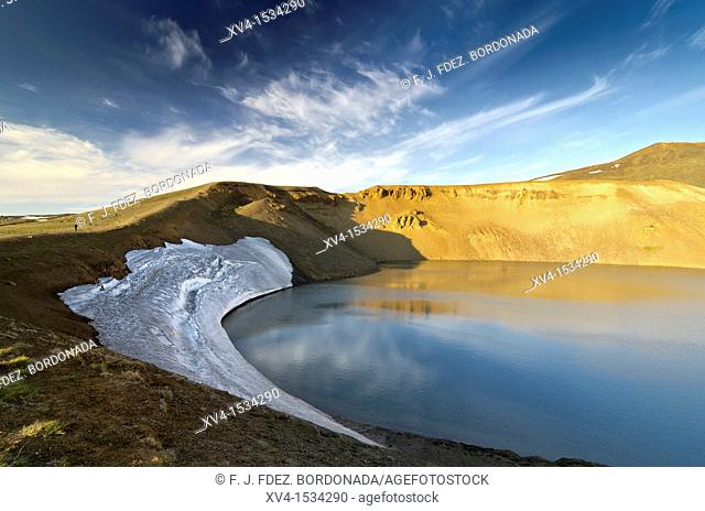 Viti volcanic crater, Krafla  Geothermal area  North east Iceland