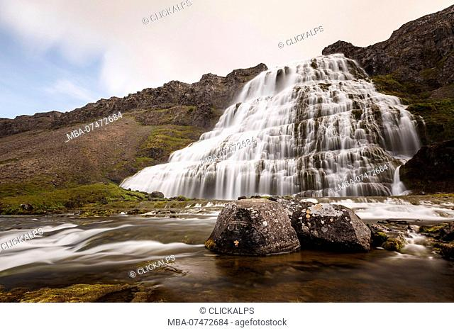 Dynjandi waterfall, West Fjords, Western Iceland, Europe