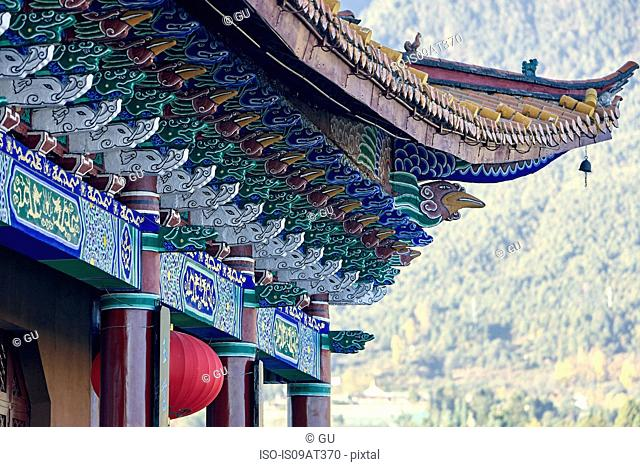 Cropped view of pagoda roof, Dali, Yunnan, China