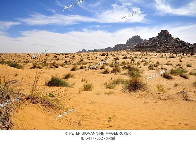 Desert landscape, route from Atar to Tidjikja, Adrar region, Mauritania
