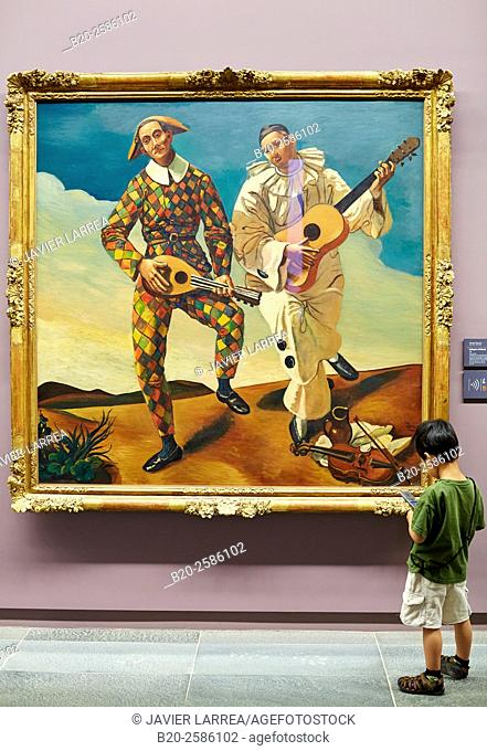 Harlequin and Pierrot, 1924 (oil on canvas), Andre Derain, (1880-1954), Musee de L'Orangerie, Tuileries, Paris, France