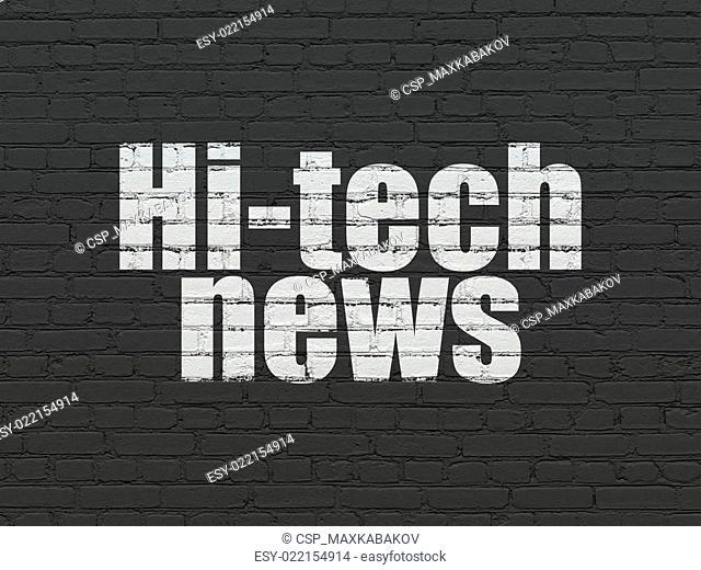 News concept: Hi-tech News on wall background